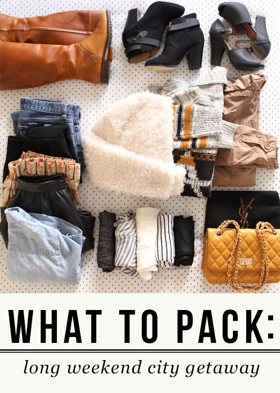The Steele Maiden: Packing for a Weekend Getaway