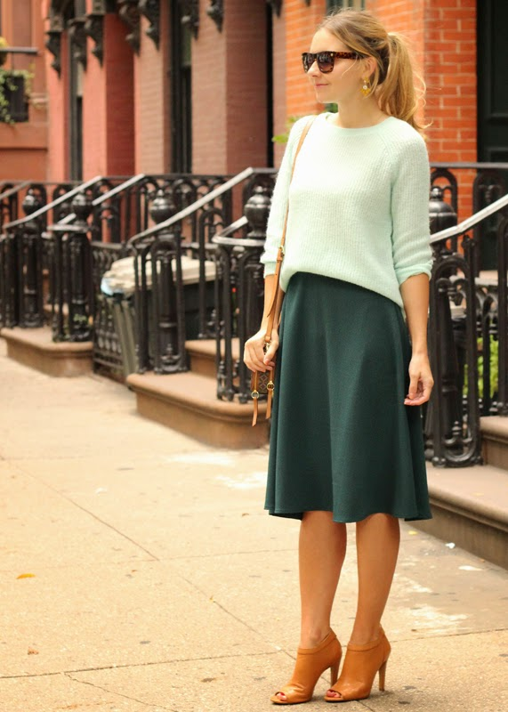 The Steele Maiden: ASOS midi skirt and Old Navy sweater