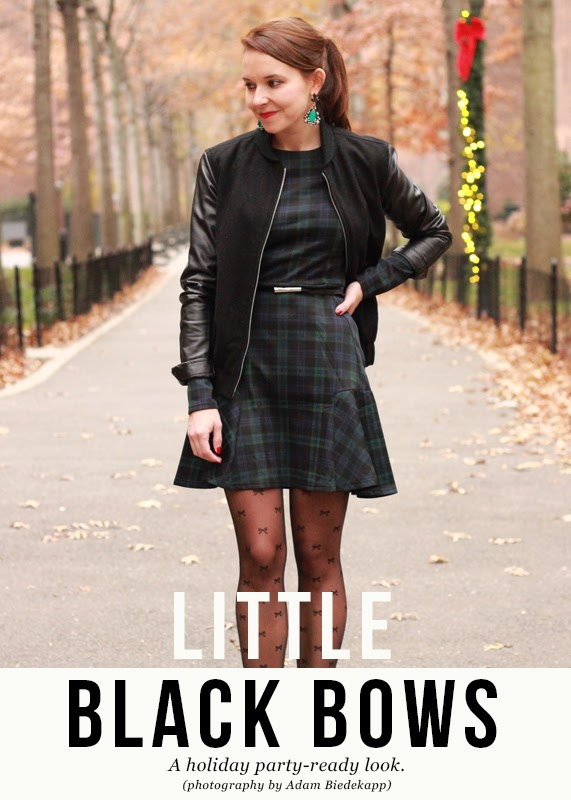 The Steele Maiden: Holiday Outfit Plaid Frill Hem Dress