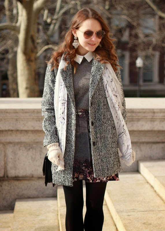 Tweed_Coat_Echo_Bunny_Scarf_Piperlime_Floral_Skirt