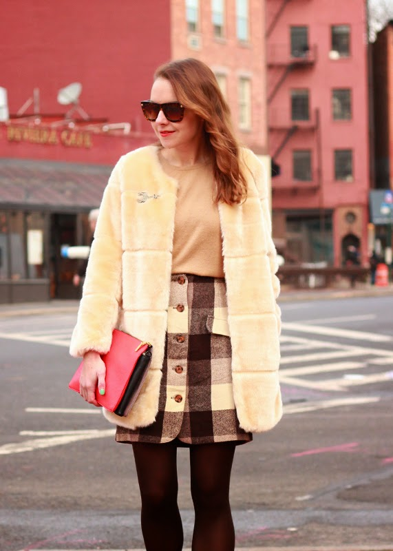 The Steele Maiden: Vintage shopping and Faux Fur Coat