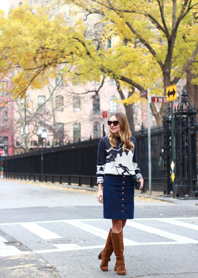 fair_isle_ski_sweater_denim_skirt_suede_knee_high_boots_1