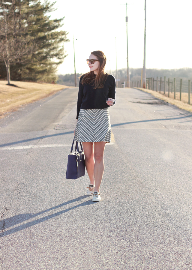 Loft_Striped_Skirt_Sperry_Canvas_Sneakers