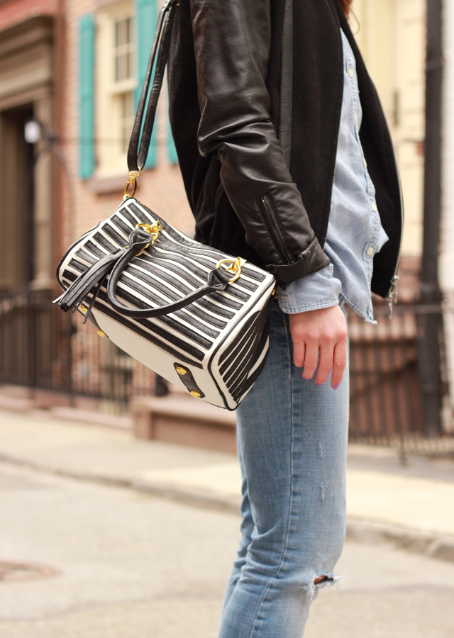 distressed_denim_leather_bomber_jacket_sole_society_suede_heels_striped_bag2