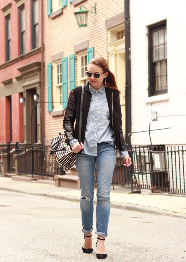 distressed_denim_leather_bomber_jacket_sole_society_suede_heels_striped_bag3