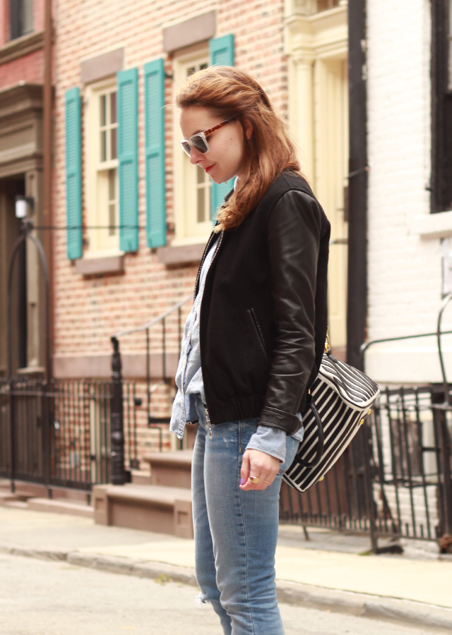 distressed_denim_leather_bomber_jacket_sole_society_suede_heels_striped_bag6