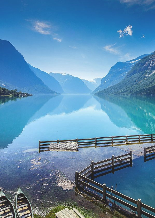 The Steele Maiden: Lake Lovatnet, Stryn Norway