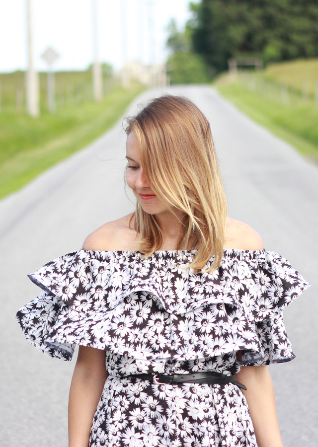 The Steele Maiden: Floral Off the Shoulder Dress