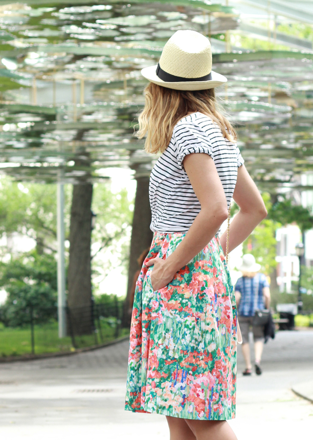 The Steele Maiden: Stripes and Florals in Madison Square Park