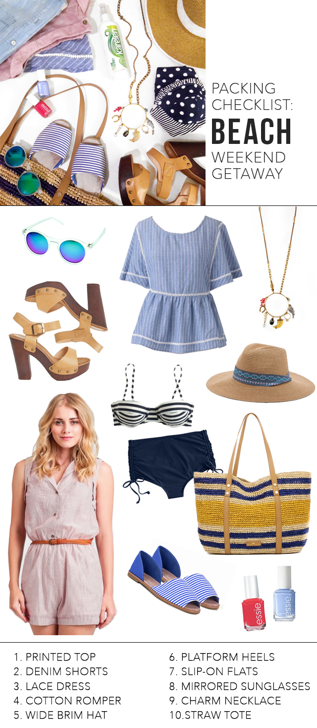 The Steele Maiden: What to pack for a weekend beach getaway