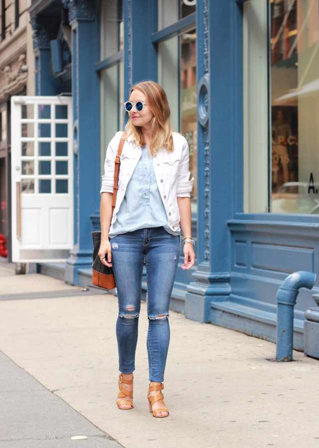 WHITE DENIM, CHAMBRAY AND RIPPED JEANS - The Steele Maiden