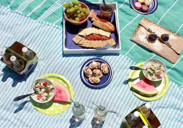 Summer Picnic in Washington Square Park with IZZE Sparkling Water
