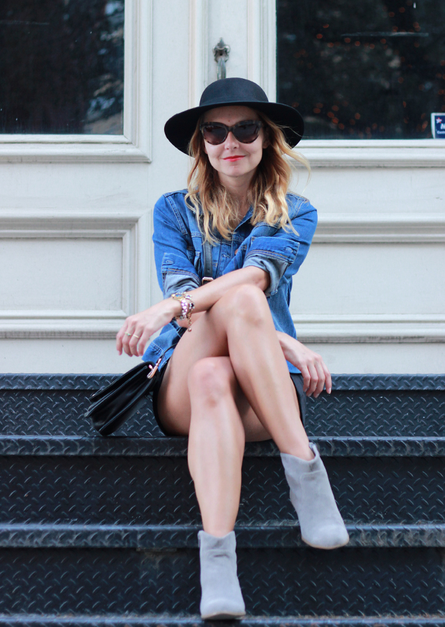 French Connection Denim Jacket and Favorite Fall Accessories