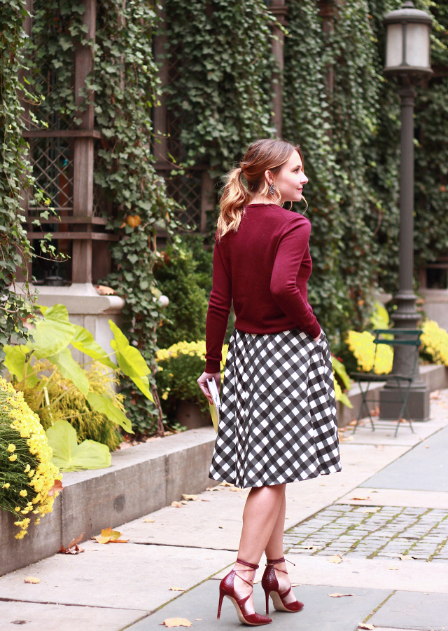 ilegal Acechar Egipto  Holiday_Party_Style_Talbots_Gingham_Skirt_Steve_Madden_Lace_Up_Heels_4 –  The Steele Maiden