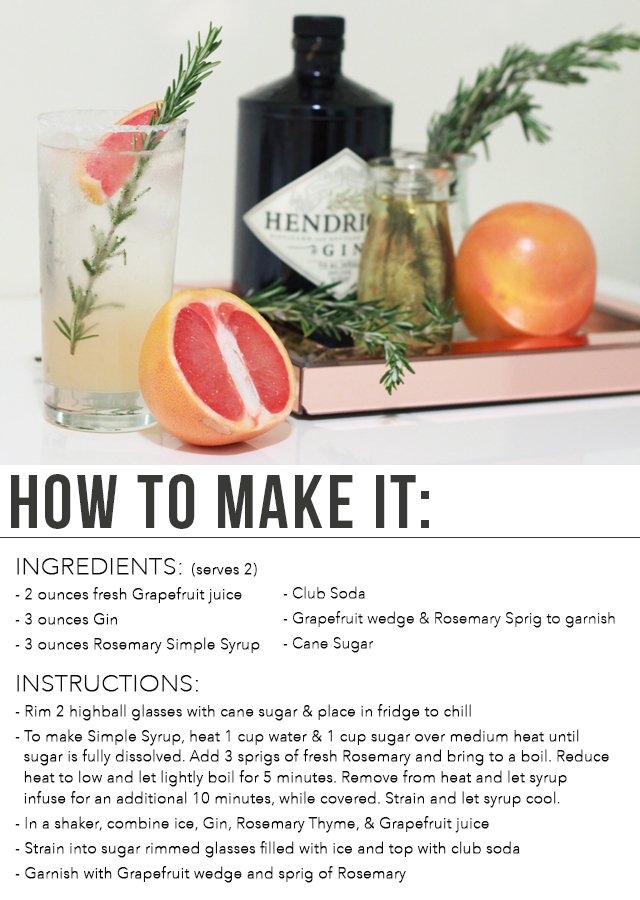 Winter Cocktail Recipe: Grapefruit Gin Fizz