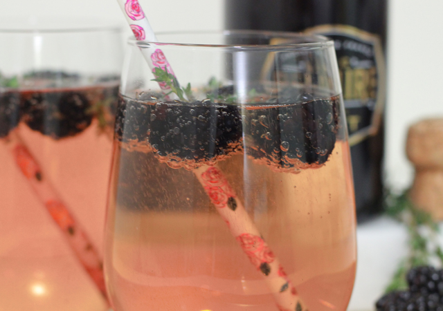 Blackberry Champagne Cocktail Recipe