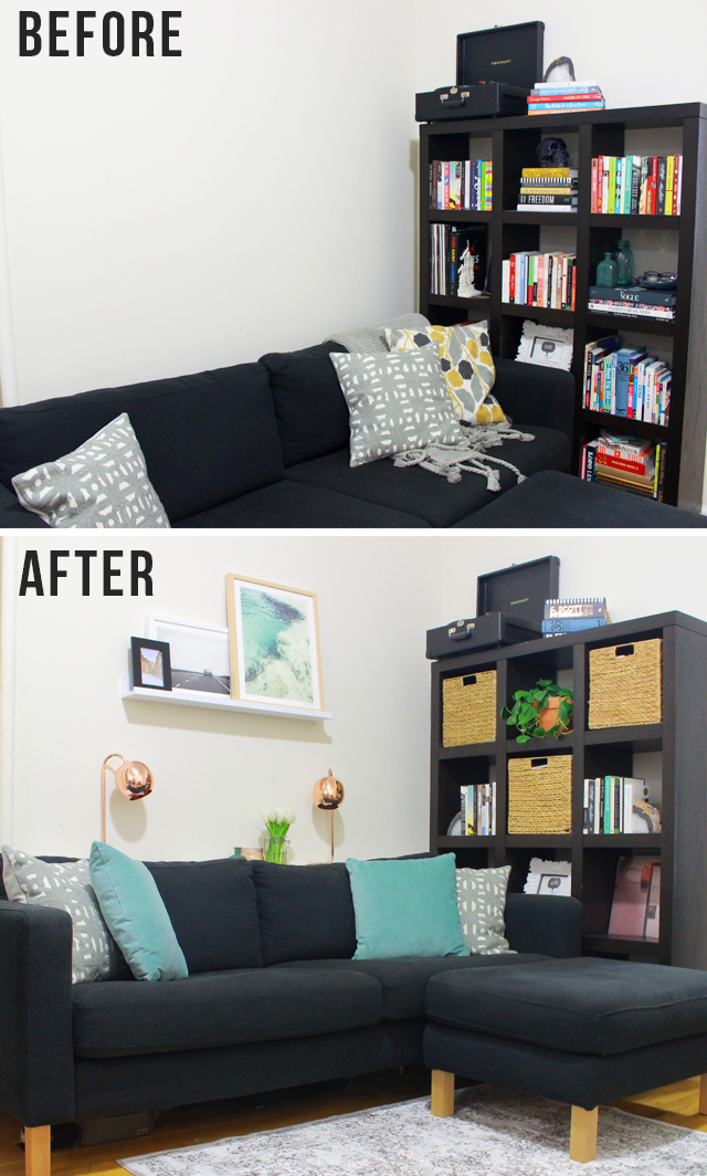 Living Room Makeover with Minted