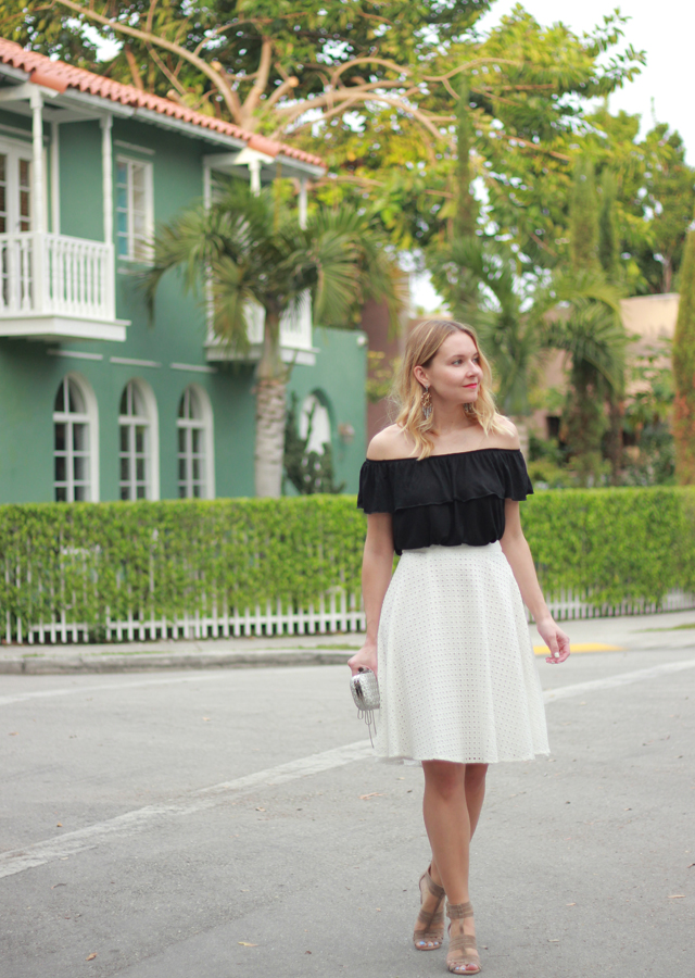 Miami Off The Shoulder Top And Midi Skirt The Steele Maiden