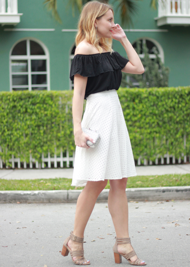 MIAMI: OFF THE SHOULDER TOP AND MIDI SKIRT - The Steele Maiden
