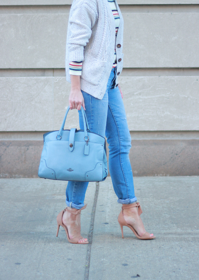 Anthropologie Layered Sweaters and Boyfriend Jeans