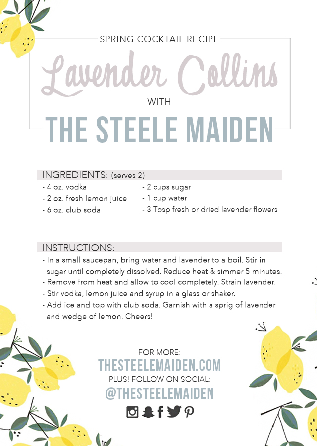 Spring Cocktail Recipe: Lavender Collins