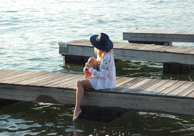 Swim Cover-ups: Loft Tunic and Brixton Hat