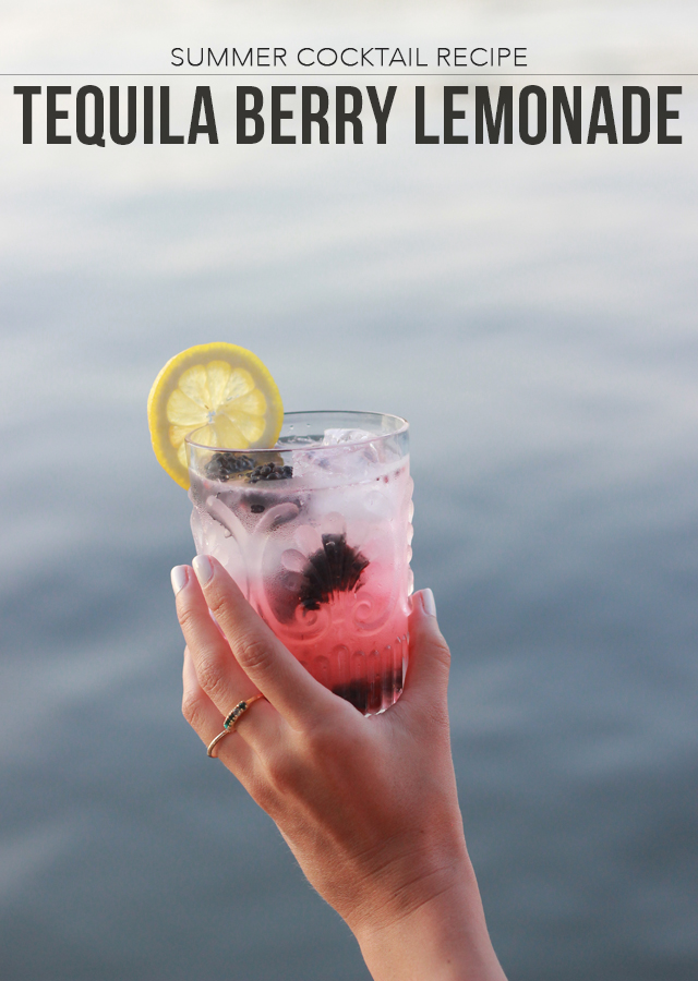 Fourth of July Summer Cocktail Recipe: Tequila Blackberry Lemonade