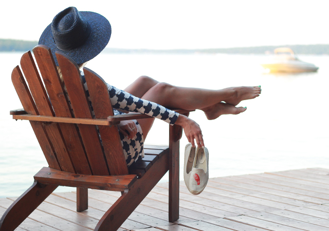 Best of: Fourth of July Sales - summer style in Boden tunic dress, Brixton hat and Soludos espadrilles