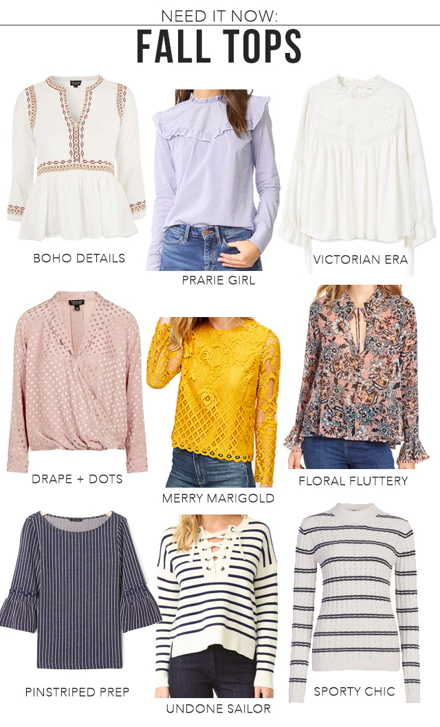 The Steele Maiden: Fall Must-Haves Shirts and Blouses
