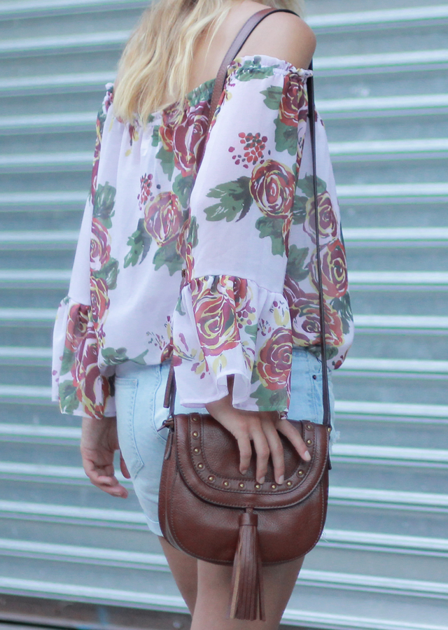 The Steele Maiden: Summer to Fall Transitional Pieces with Anthropologie floral off the shoulder top