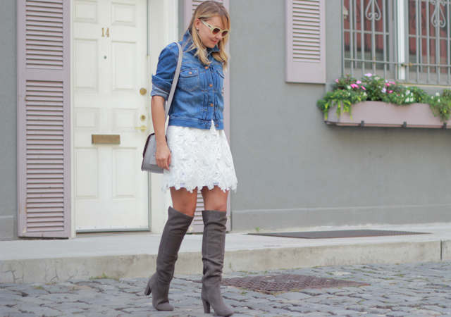The Steele Maiden: Grey Suede Over the Knee Boots and LWD