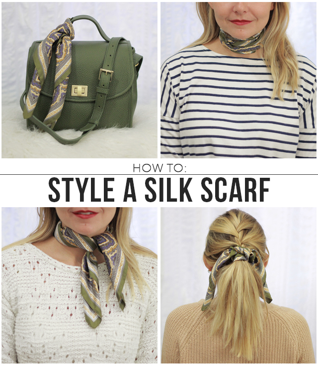 The Steele Maiden: 4 Ways to Style a Silk Scarf for Fall