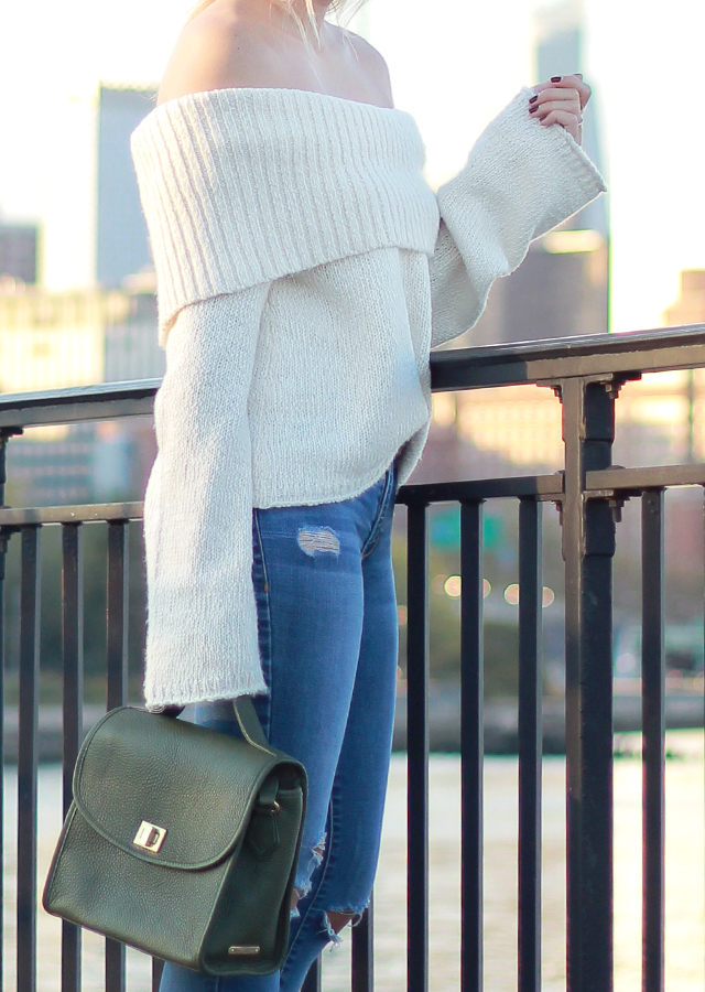 Fall Trends - Off the Shoulder Bell Sleeve Sweater