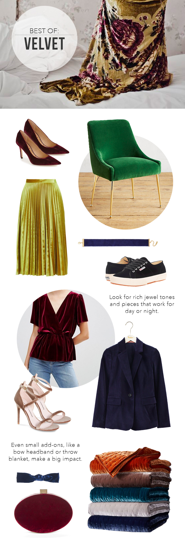 The Steele Maiden: Trend for Fall - Velvet clothing, shoes and home decor