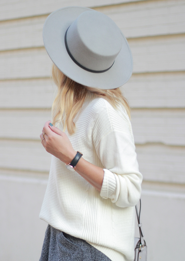 a618ba03780 The Steele Maiden  Grey Boater Hat and Oversized sweater