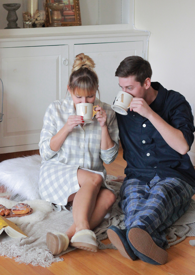 His and Hers cozy Lands' End sleepwear