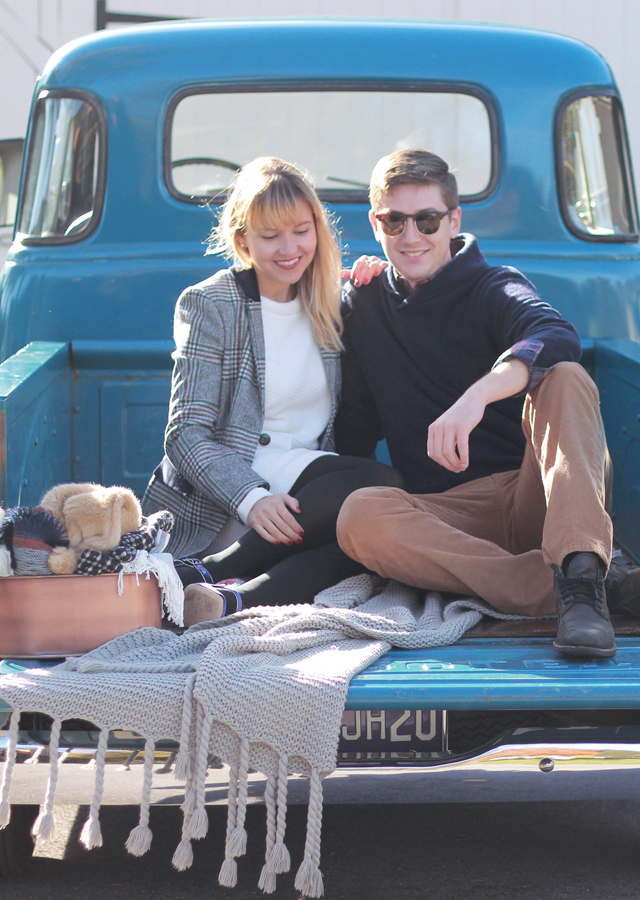 The Steele Maiden: His and Hers Holiday Style with Boden and a Vintage Chevy Truck