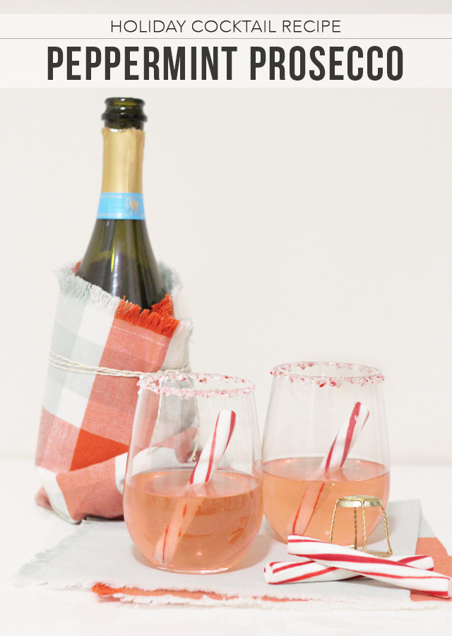 The Steele Maiden: Holiday Cocktail Recipe - Peppermint Prosecco