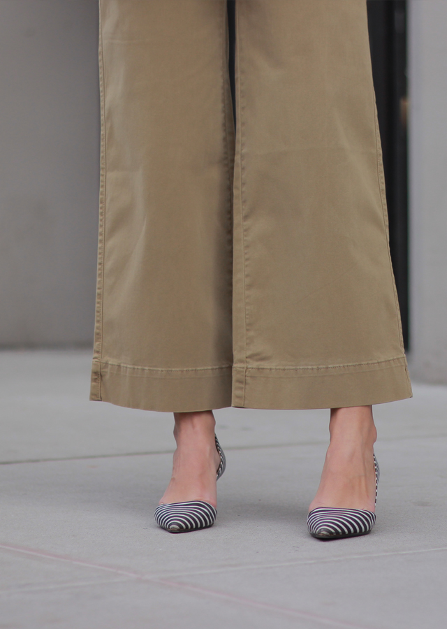 The Steele Maiden: Spring trends - wide leg chinos and bell sleeves