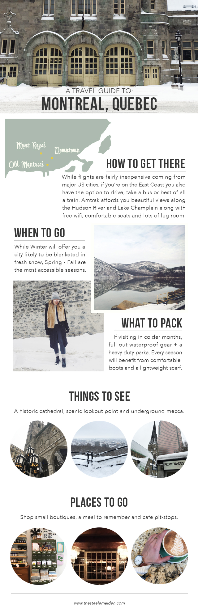 The Steele Maiden: Winter Travel Guide to Montreal Quebec