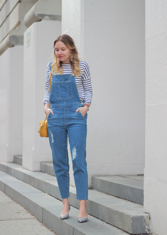 The Steele Maiden: Weekend Style - overalls and stripes