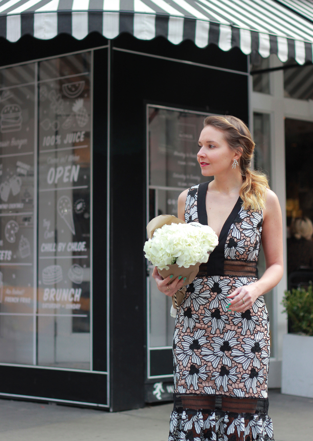 The Steele Maiden: Spring Occasion Wear with Amazon Fashion - Nicole Miller Floral Lace Dress