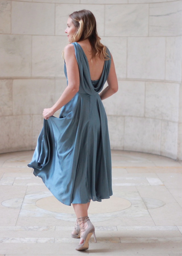 The Steele Maiden: St. Jude Spring Gala with Collectively - wearing Asos drape back dress