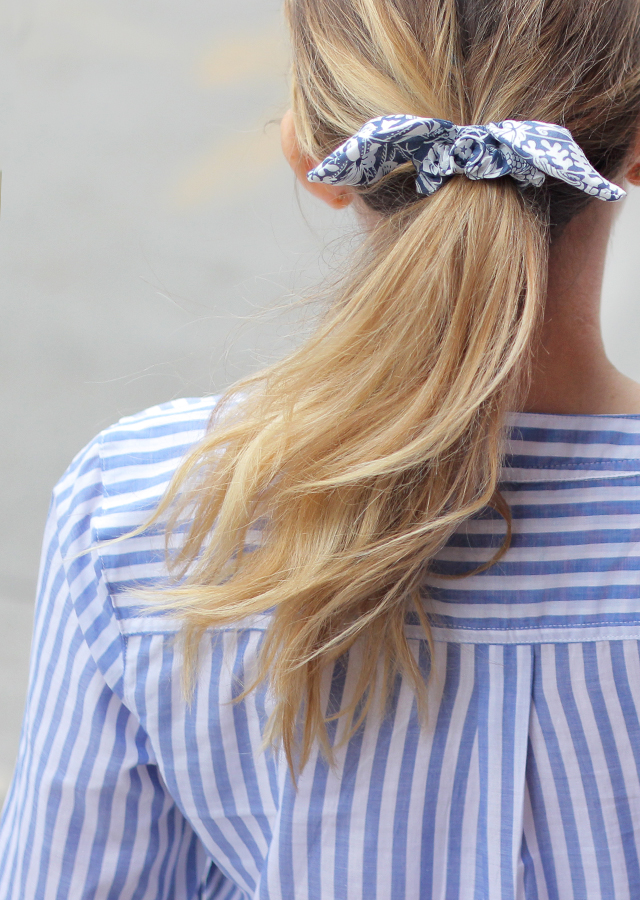 The Steele Maiden: Striped Top and Floral Hair Bow