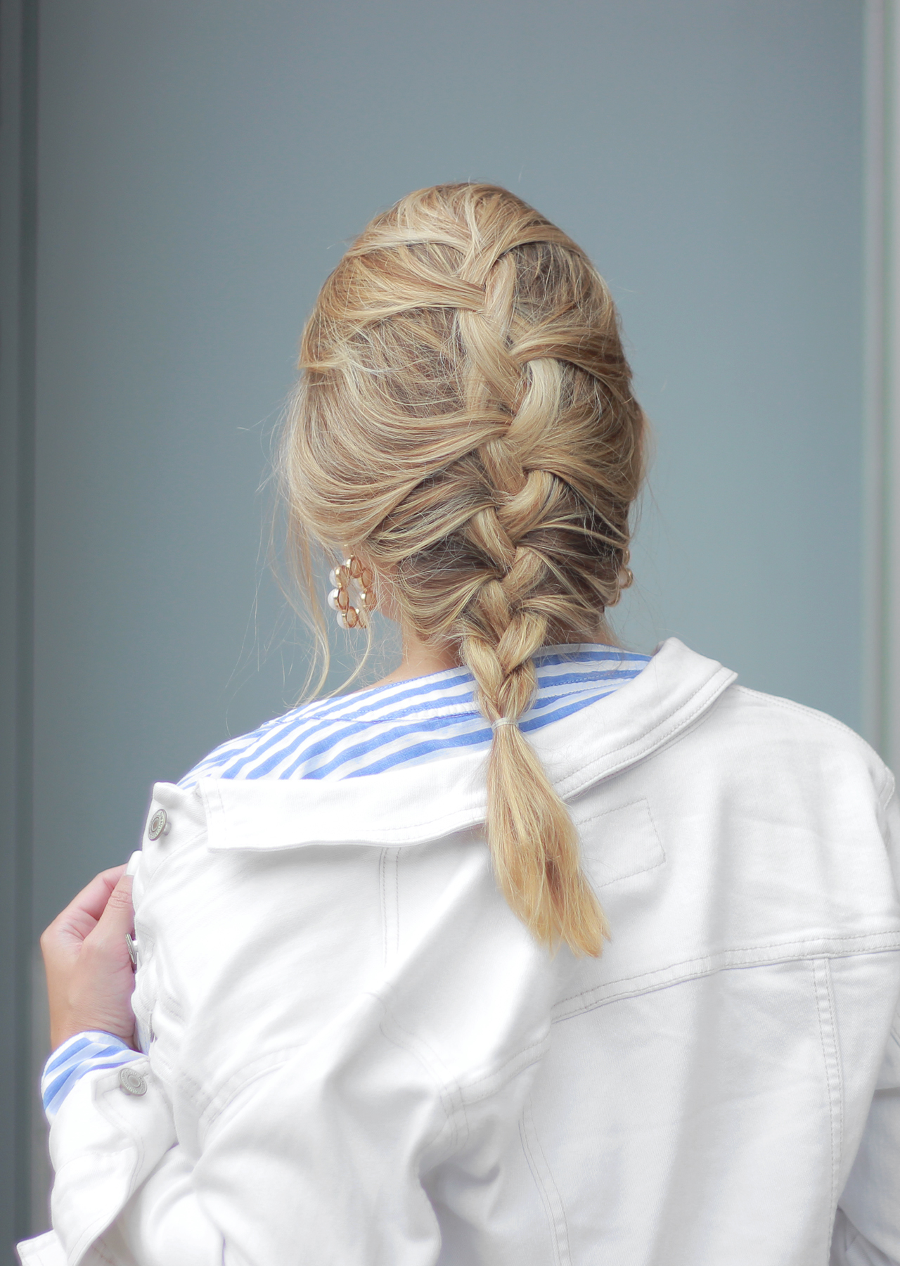 The Steele Maiden: Blonde Bayalage French Braid