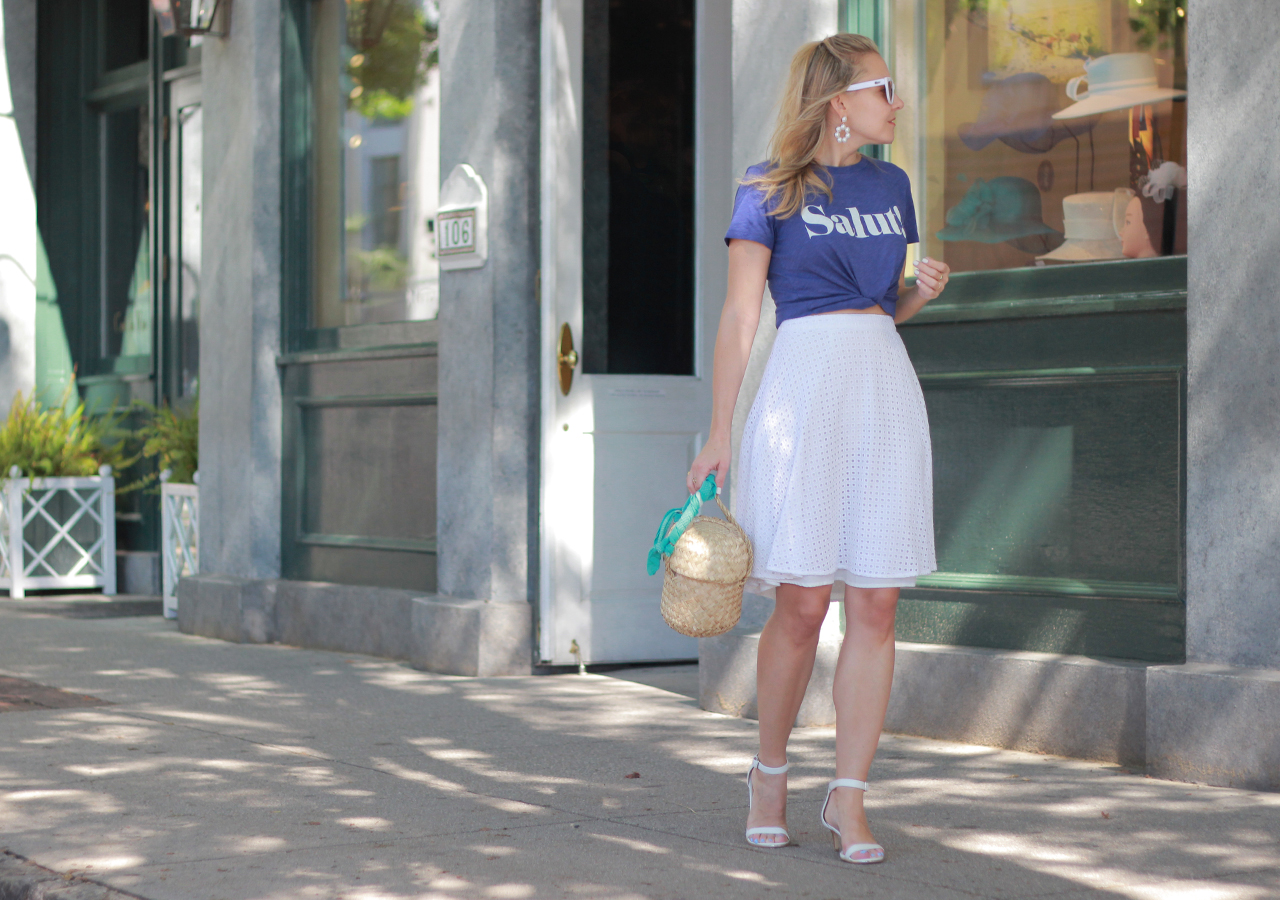 The Steele Maiden: Summer Styling Tip - Graphic Tee and Eyelet Skirt