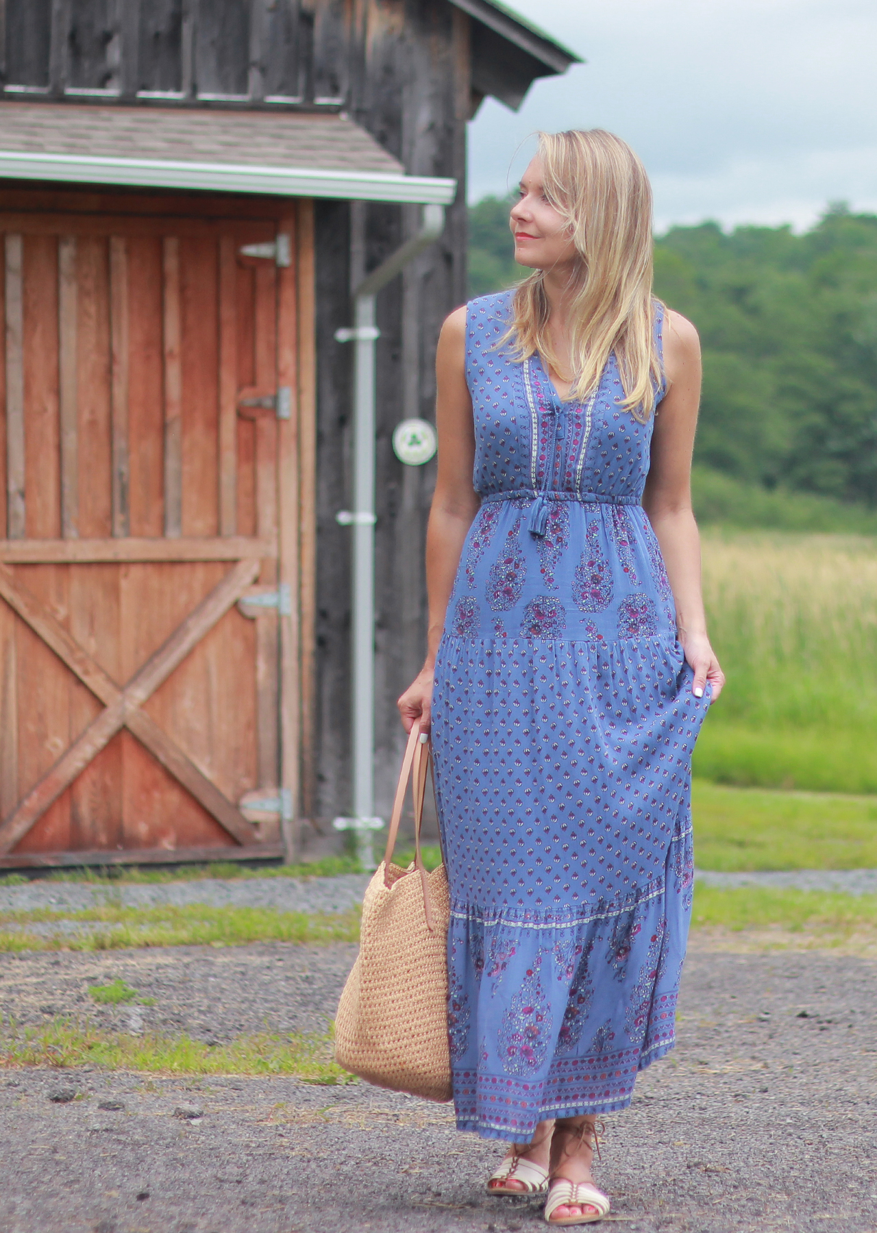 31644b4a7450c The Steele Maiden: Summer in the Country - Old Navy Floral Maxi Dress and  Lace