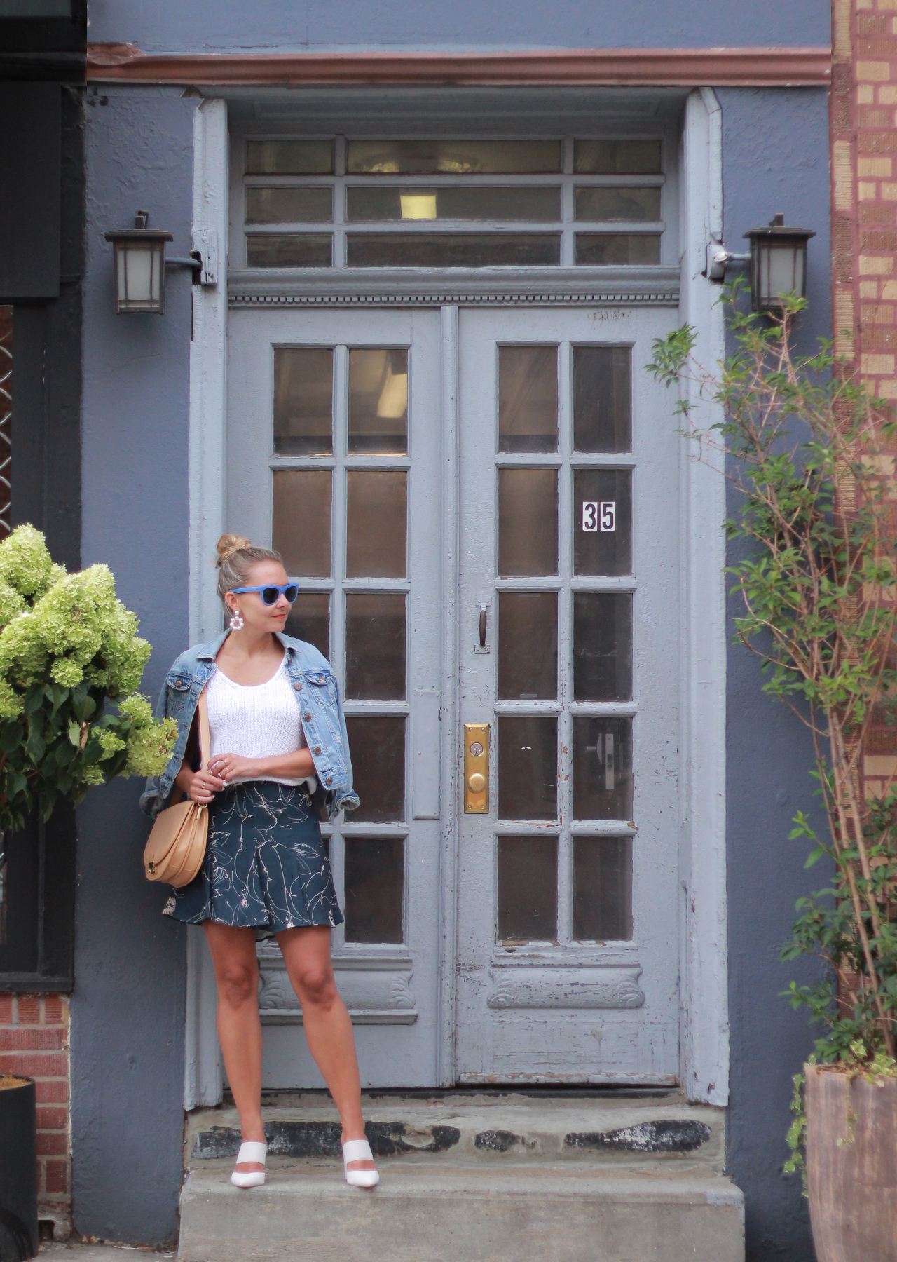 The Steele Maiden: Floral Mini Skirt and Denim Jacket