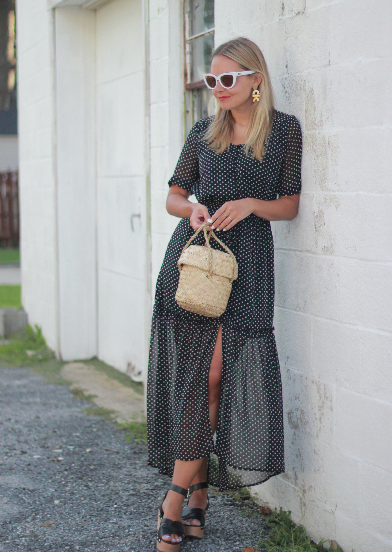 The Steele Maiden: Polka Dot Maxi Dress