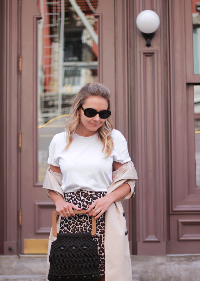 The Steele Maiden: NYFW Style - Leopard Mini Skirt and Sock Booties